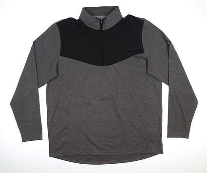 New Mens Puma Preston 1/4 Zip Pullover Large L Puma Black MSRP $80 95120 01