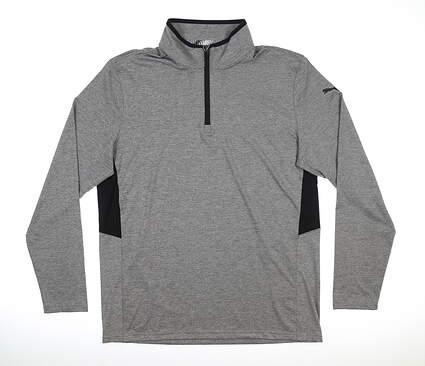 New Mens Puma Rotation 1/4 Zip Pullover Medium M Gray MSRP $80 577900 03