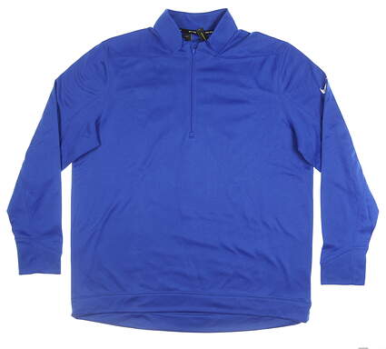 New Mens Nike 1/4 Zip Golf Pullover Large L Blue MSRP $70 AR2600