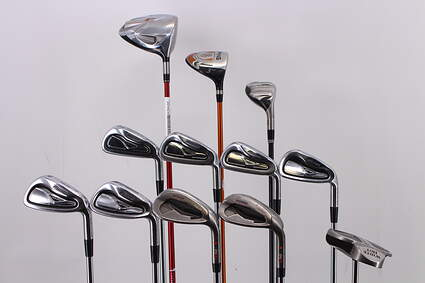 Mens Complete Golf Club Set Regular RH TaylorMade Driver Mizuno Irons Ping Wedges Odyssey Putter