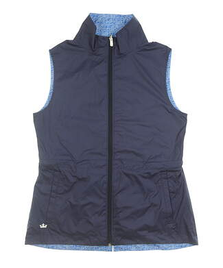 New Womens Peter Millar Vest Small S Blue MSRP $129 LS17EZ01A