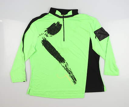 New Womens Jamie Sadock 1/4 Zip Pullover Small S Green MSRP $92 62103