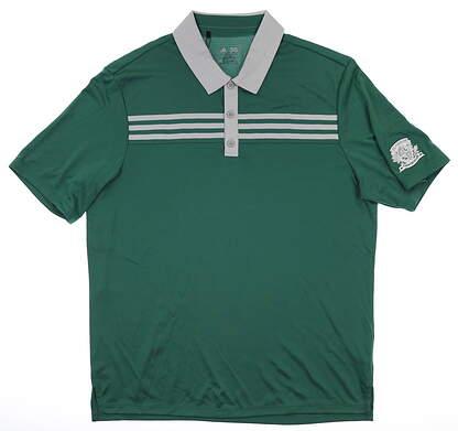 New W/ Logo Mens Adidas Polo Medium M Green MSRP $75