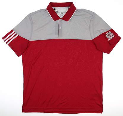 New W/ Logo Mens Adidas Golf Polo Large L Multi MSRP $75 AF0591