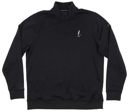 New W/ Logo Mens Under Armour 1/4 Zip Pullover Large L Black MSRP $90 UM1274