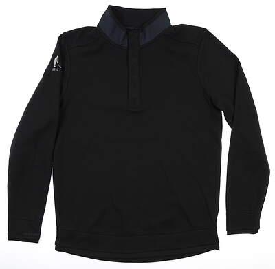 New W/ Logo Mens Under Armour Golf Pullover Medium M Black MSRP $90 UM0651