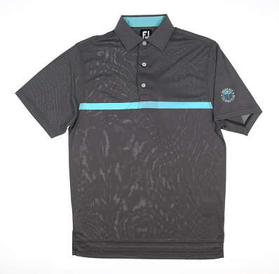 New W/ Logo Mens Footjoy Golf Polo Small S Dark Gray MSRP $85 25766