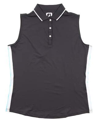 New Womens Footjoy Sleeveless Polo Large L Gray MSRP $75 25467