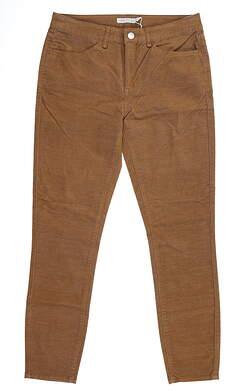 New Womens Peter Millar Plush Corduroy Pants 2 Brown MSRP $129 LF19B49