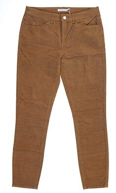 New Womens Peter Millar Plush Corduroy Pants 6 Brown MSRP $129 LF19B49