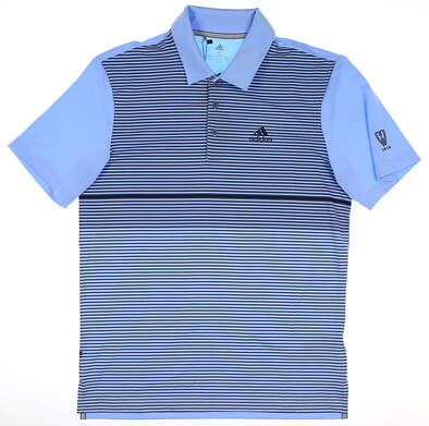 New W/ Logo Mens Adidas Golf Polo Small S Blue MSRP $65 DX4575