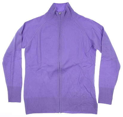 New Womens Peter Millar Sweater Medium M Purple MSRP $250
