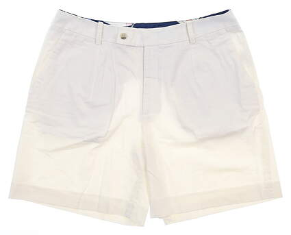 New Womens Peter Millar Shorts 8 White MSRP $100 LS19B01