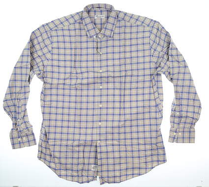 New Mens Peter Millar Button Up X-Large XL Multi MSRP $145 MF17W55CFL