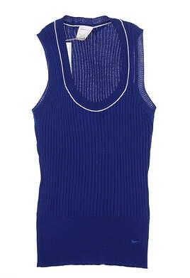 New Womens Nike CoolMax Sweater Vest Medium M Blue MSRP $80 416587