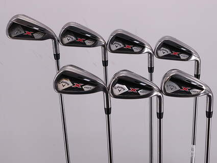 Callaway 2013 X Hot Iron Set 4-PW True Temper Speed Step 85 Steel Regular Right Handed 38.5in