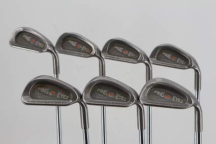 Ping Eye 2 + Iron Set 4-PW Ping KT-M Steel Stiff Right Handed Orange Dot 37.5in