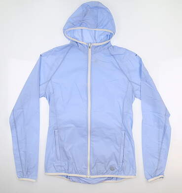 New Womens Tory Sport Nylon Packable Jacket X-Small Ice Floe MSRP $120 29283