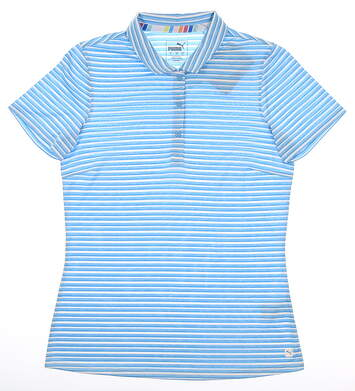 New Womens Puma Drive Polo Small S Ethereal Blue MSRP $55 595820