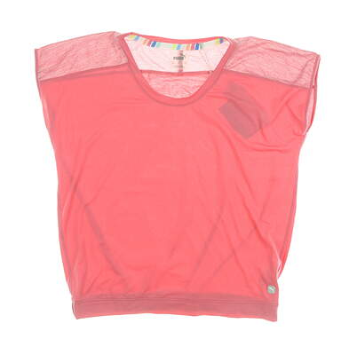 New Womens Puma Slouchy Tee Small S Rapture Rose MSRP $50 595839