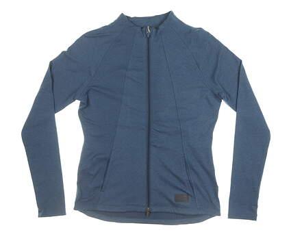 New Womens Puma Warm Up Jacket Small S Dark Denim MSRP $80 595850