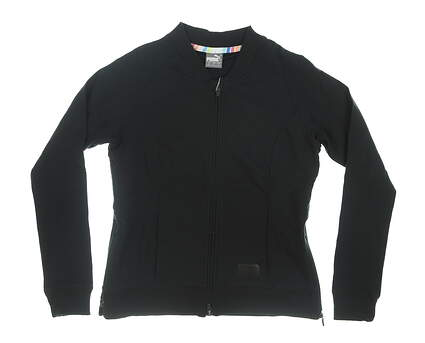 New Womens Bomber Puma Jacket Small S Black MSRP $98 595845
