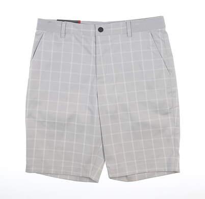 New Mens Puma Plaid Shorts 32 Quarry MSRP $75 595809 02