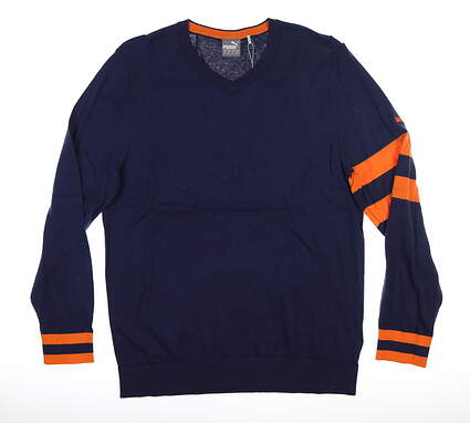 New Mens Puma Lux Sweater Medium M Peacoat MSRP $75 596812 01