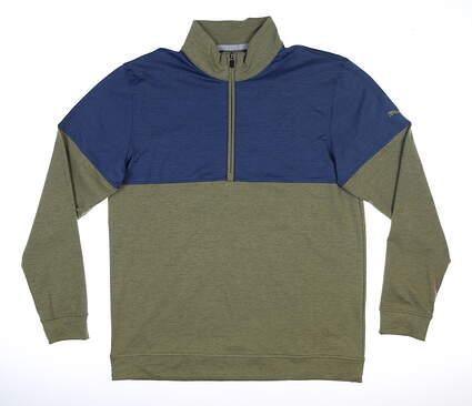 New Mens Puma Rotation 1/4 Zip Pullover Medium M Deep Green MSRP $75 595803 05