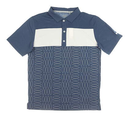 New Mens Puma Surf Town Polo Medium M Blue MSRP $75 596380