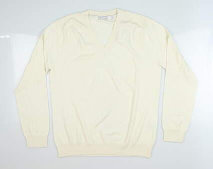 New Womens Peter Millar Sweater X-Small XS Cream MSRP $150 LS19S05