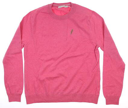 New W/ Logo Womens Peter Millar Golf Sweater Large L Pink MSRP $129 LS19S02