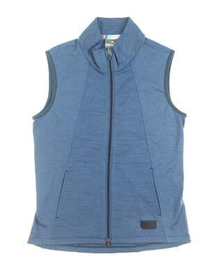 New Womens Puma Warm Up Vest Small S Dark Denim MSRP $70 595852