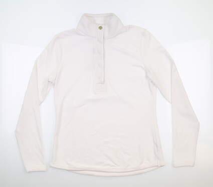 New Womens Fairway & Greene Kate Old School Sweatshirt Large L Pearl MSRP $125 H12250