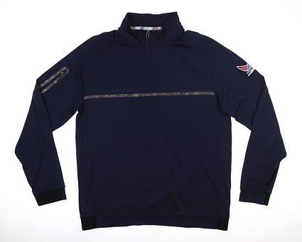 New Mens Puma Volition Noonan 1/4 Zip Pullover Medium M Peacoat MSRP $100 576611 02