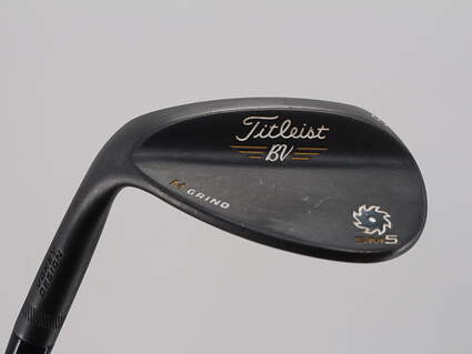 Titleist Vokey SM5 Raw Black Wedge Lob LW 58° 8 Deg Bounce M Grind Titleist SM5 BV Steel Wedge Flex Left Handed 35.0in