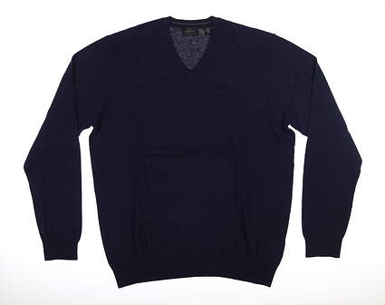 New Mens Greg Norman Sweater Large L Navy Blue MSRP $90 G7F8S184