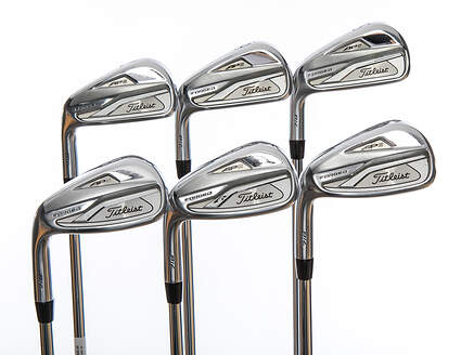 Titleist 718 AP2 Iron Set 5-PW True Temper AMT White S300 Steel Stiff Left Handed 39.0in