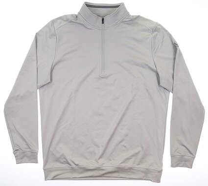 New Mens Adidas Classic Club 1/4 Zip Pullover Large L Gray MSRP $75 DQ2424