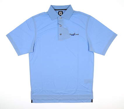 New W/ Logo Mens Footjoy ProDry Pique Polo Small S Light Blue MSRP $70 32873