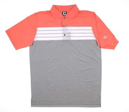 New W/ Logo Mens Footjoy Golf Polo Large L Multi MSRP $75 22740