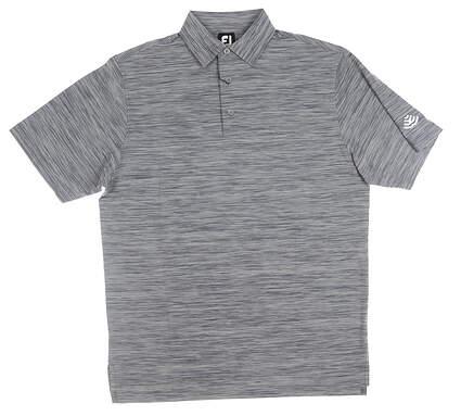 New W/ Logo Mens Footjoy Golf Polo Medium M Navy Blue MSRP $75 22319