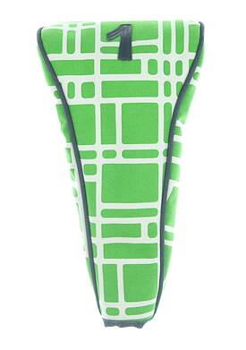 #1 Premium Driver Headcover Green/White/Navy Blue