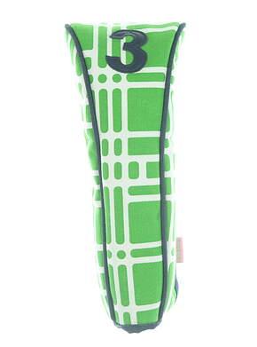 #3 Premium Fairway Wood Headcover Green/White/Navy Blue