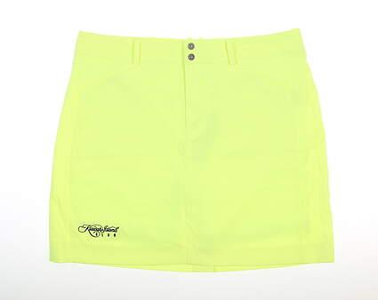 New W/ Logo Womens Ralph Lauren Golf Skort 8 Neon Yellow MSRP $160