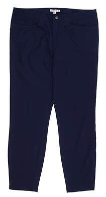 New Womens Peter Millar Golf Pants 10 Navy Blue MSRP $120