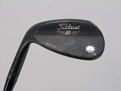 Titleist Vokey SM5 Raw Black Wedge Sand SW 56° 10 Deg Bounce M Grind Titleist SM5 BV Steel Wedge Flex Left Handed 35.0in