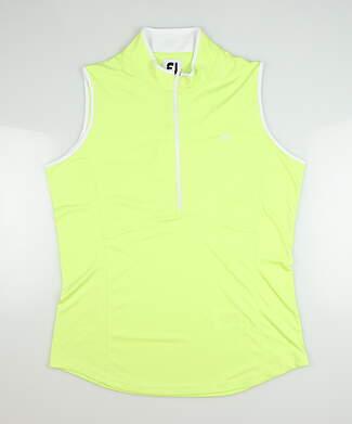 New W/ Logo Womens Footjoy Sleeveless Zip Polo X-Small XS Green MSRP $55