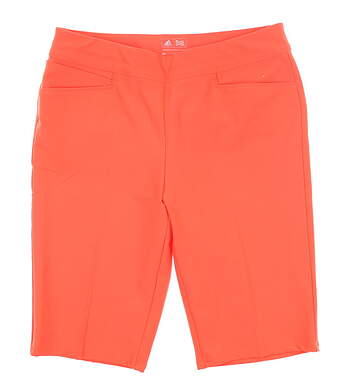 New Womens Adidas Ultimate Bermuda Shorts Medium M Coral MSRP $70 BC7754