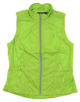New Womens Ralph Lauren Vest Large L Island Lime MSRP $198